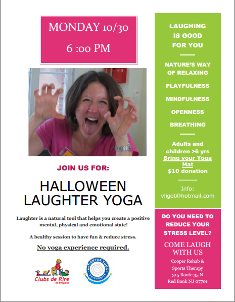 Register now for your Halloween Laughter Yoga on 10/30!